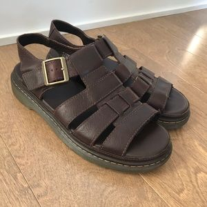 Dr. Martens Twohill brown leather sandals